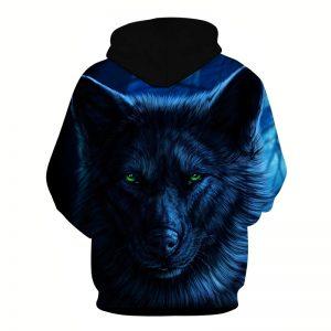 Arrière Sweat Loup Mystérieux