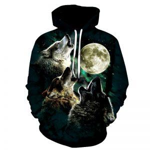 Sweat Loup Pleine Lune