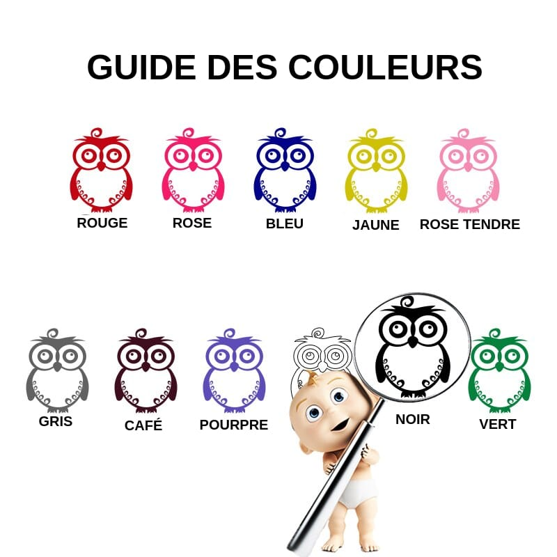 GUIDE DES COULEURS STICKERS LOUP ORIGAMI