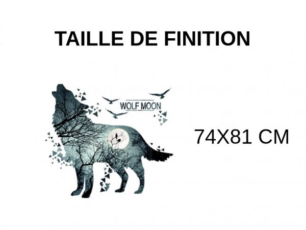 GUIDE TAILLE DE FINITION STICKERS LOUP WOLF MOON