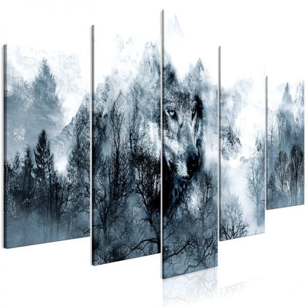 Tableau Loup Abstrait vue de coté