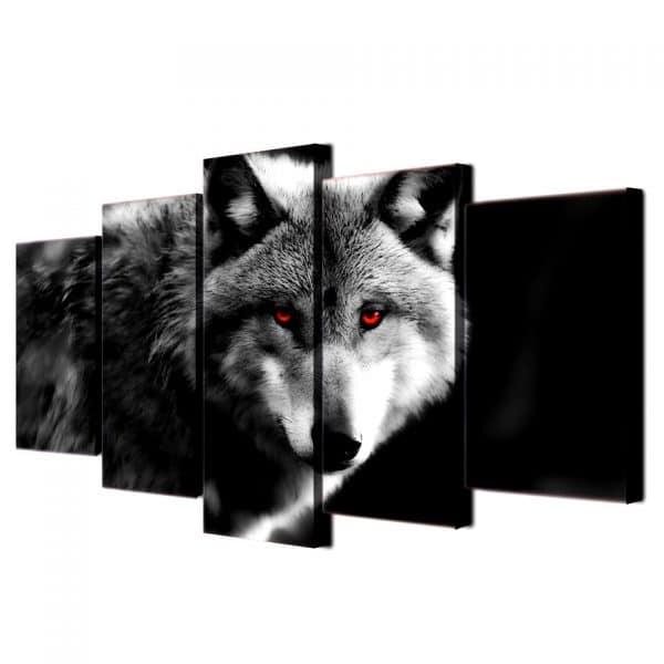 Tableau Loup Déco vue de coté