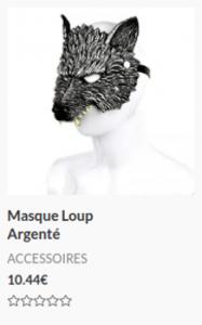 Masque Loup Argenté