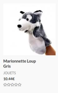 Marionnette Loup Gris