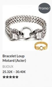 Bracelet Loup Motard