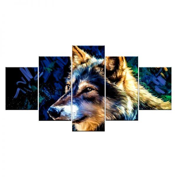 Tableau Loup Imprimé