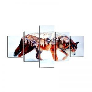 Tableau Loup Art Abstrait