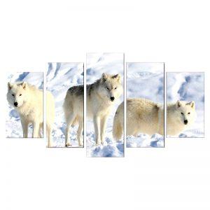 Tableau Loup Blanc Arctique