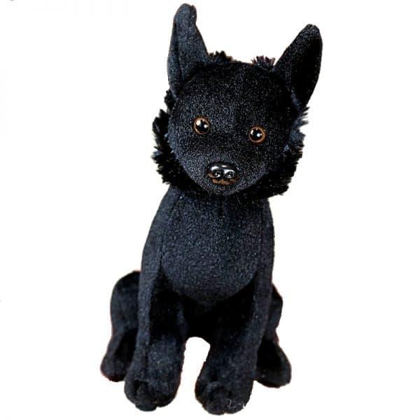 Peluche Chien Loup Noir