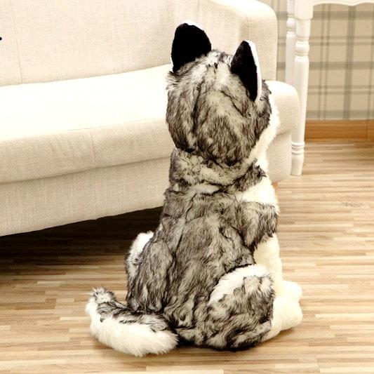 Peluche Loup Grande Taille vue de dos