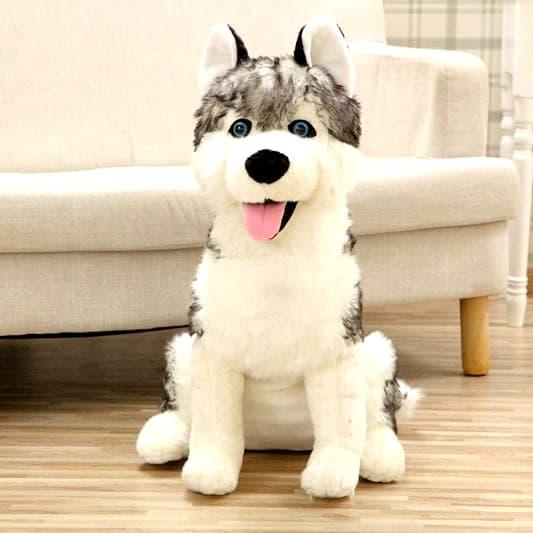 Peluche Loup Grande Taille vue de face