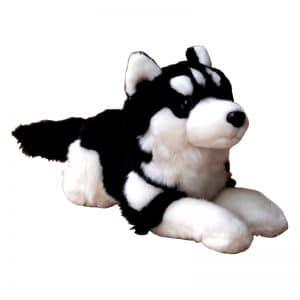 Peluche Loup Noir et Blanc