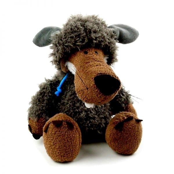 Peluche Loup Mouton Gris