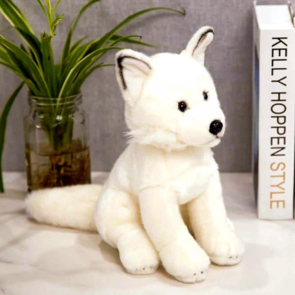 Peluche Loup Blanc de coté