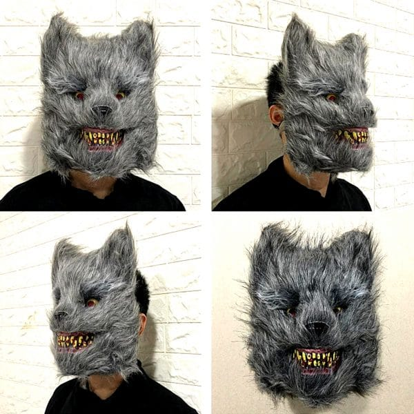 Masque Loup Halloween vue dans plusieurs angles