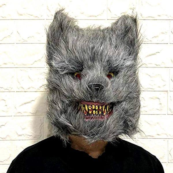 Masque Loup Halloween vue de face