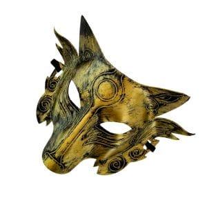 Masque Loup Doré sur le coté