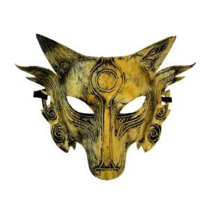 Masque Loup Doré