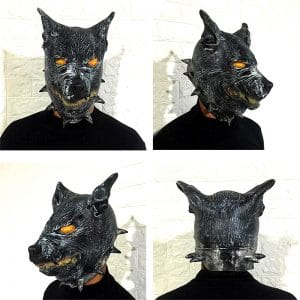 Masque Loup Latex vue sous 4 angles