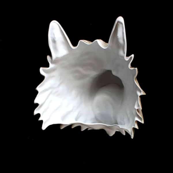 Masque Loup Gris vue de l'intérieur