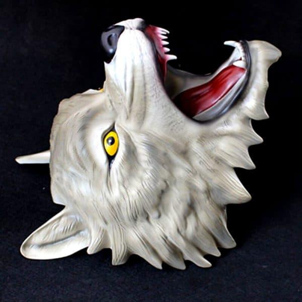 Masque Loup Gris vue de coté