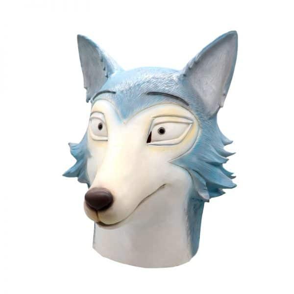 Masque Loup Bleu vue mi coté