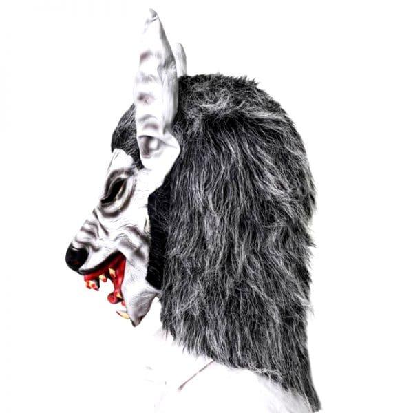 Masque Loup Déguisement vue sur le coté