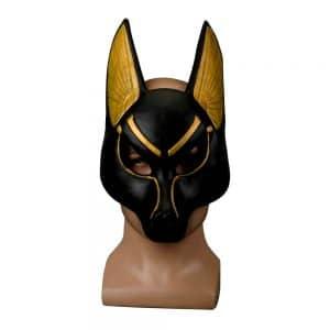 Masque Loup Noir Homme sur un mannequin