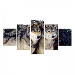 Tableau Loup Amoureux