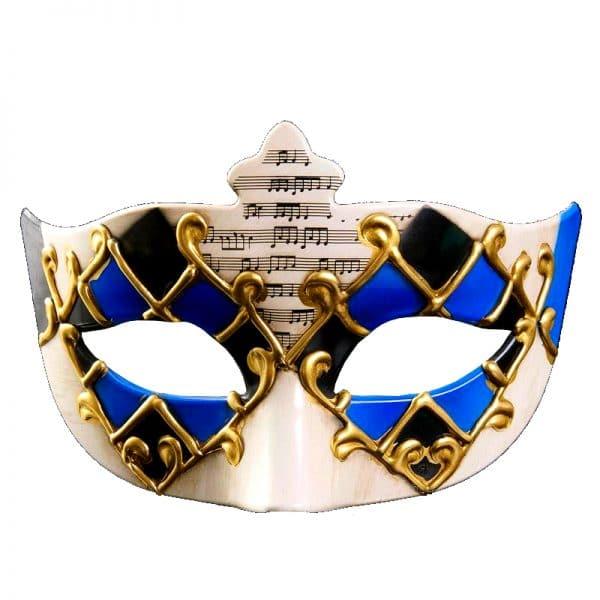 Masque Loup Vénitien Homme Bleu