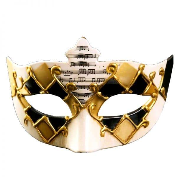 Masque Loup Vénitien Homme Noir