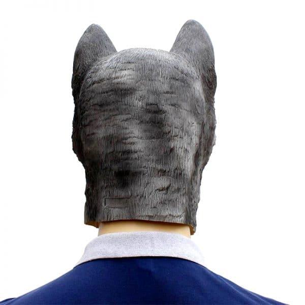 Masque Loup Gris et Blanc vue de dos