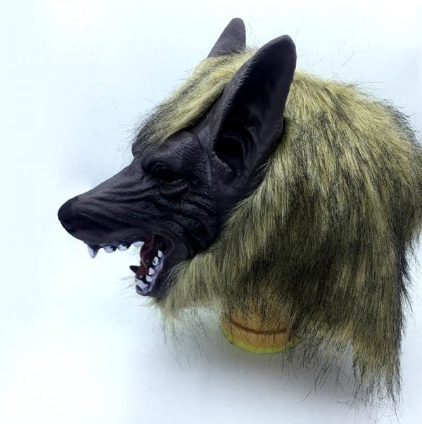 Déguisement Loup Halloween vue sur le masque