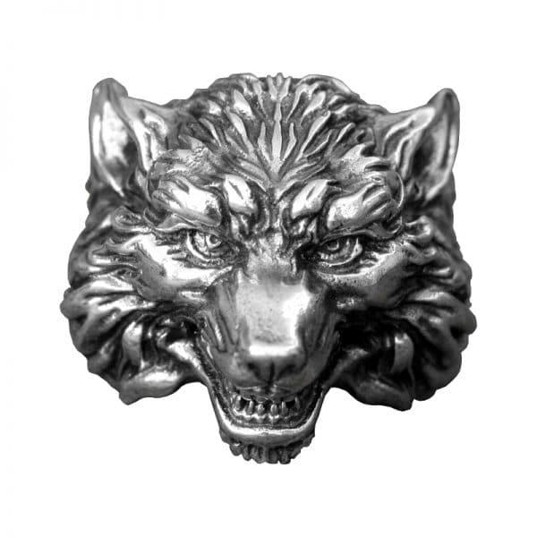 Bague Tête De Loup Argent