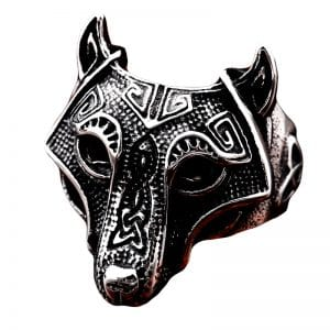 Bague Loup Viking
