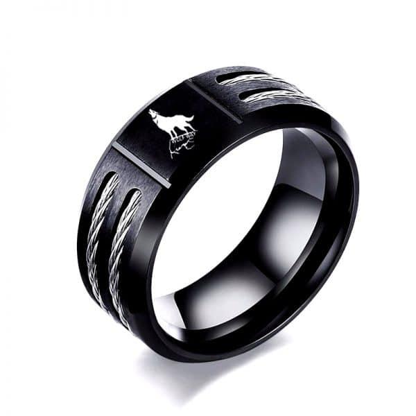 Bague Loup Noir 3