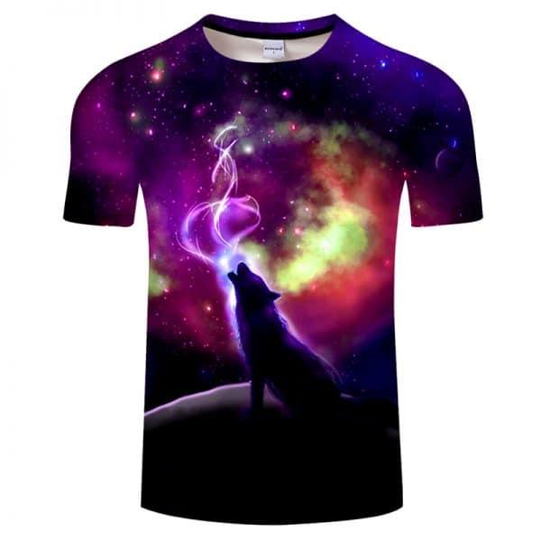 T-Shirt Loup Motif Femme