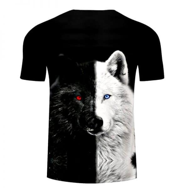 T-Shirt Loup Yin Yang