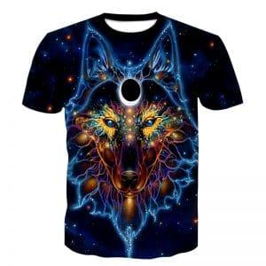 T-Shirt Loup Motif