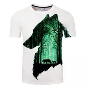 T-Shirt Loup Forêt