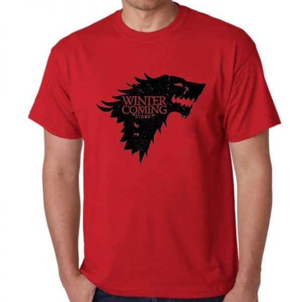 T-Shirt Loup Stark Rouge