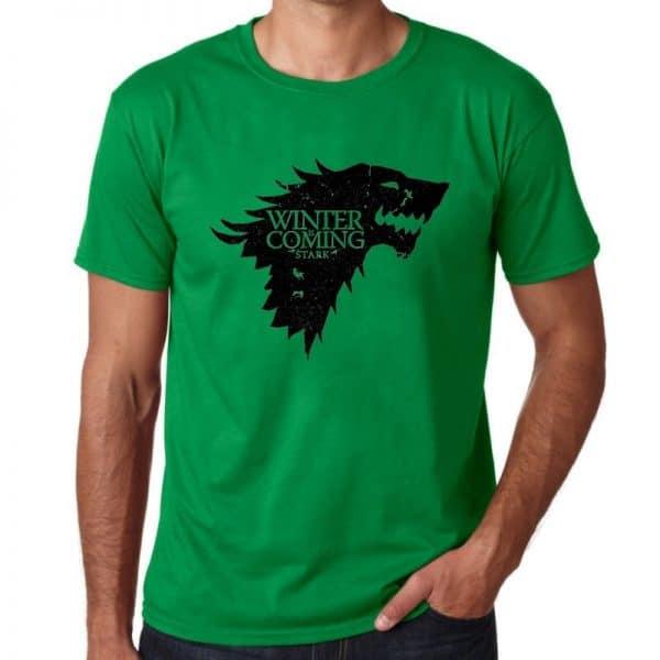 T-Shirt Loup Stark Vert