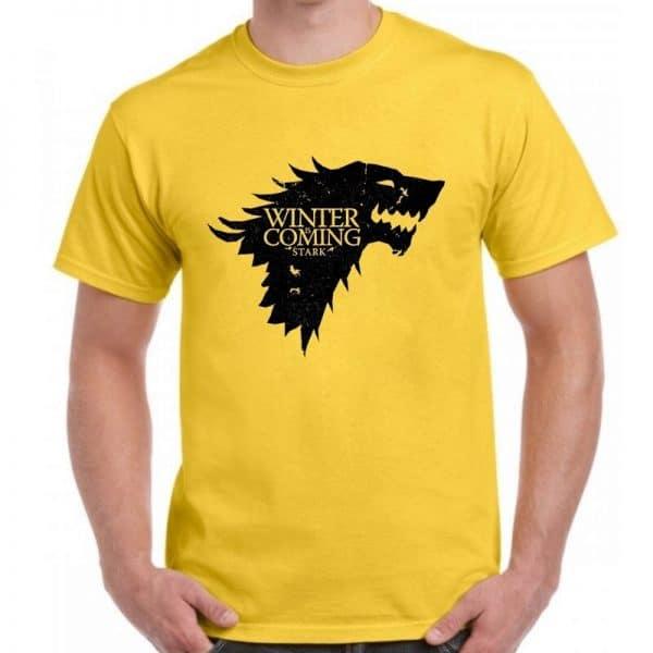T-Shirt Loup Stark Jaune