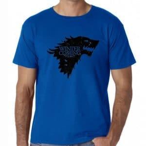 T-Shirt Loup Stark Bleu