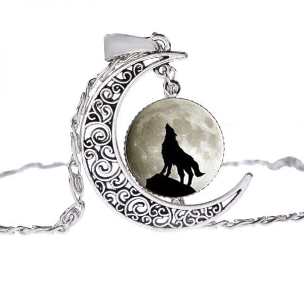 Collier Loup Lune motif 5