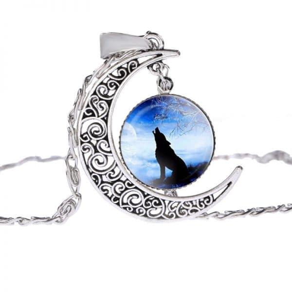 Collier Loup Lune motif 4