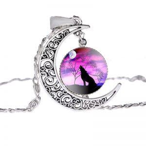 Collier Loup Lune motif 2