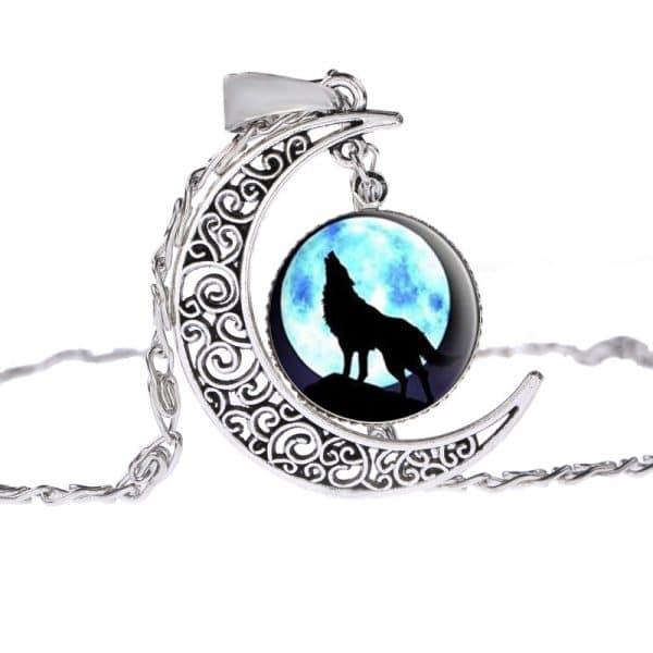Collier Loup Lune motif 3