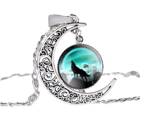 Collier Loup Lune Motif 1