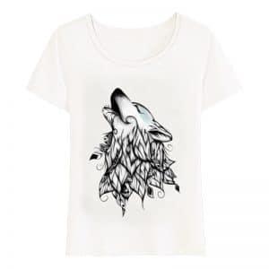 T-Shirt Loup Femme